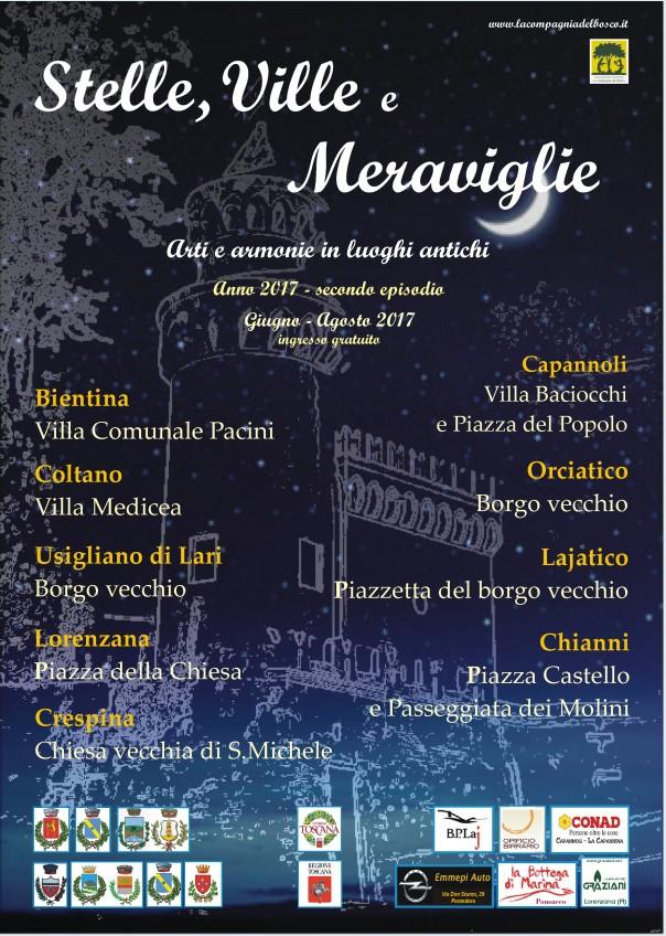 Stelle, Ville e Meraviglie - poster 2017